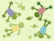 Vecteur avec de joyeuses grenouilles illustration libre de droits