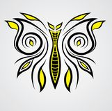 Vecteur avec du charme de tatouage de papillon Image stock
