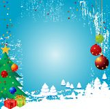 Vecteur Backgr de l'hiver de Noël Photographie stock
