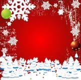 Vecteur Backgr de l'hiver de Noël Images stock