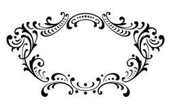 Vecteur baroque d'ornement de rouleau de cadre de vintage Images stock