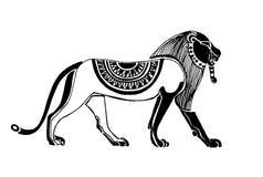 Vecteur - beau égyptien de lion Lion décoratif Image stock