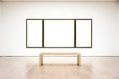 Vecteur blanc d'isolement par chemin moderne d'Art Museum Frame Wall Clipping Images stock