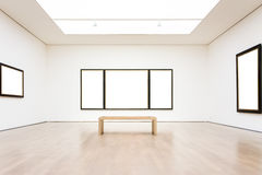 Vecteur blanc d'isolement par chemin moderne d'Art Museum Frame Wall Clipping Photo stock