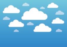 Vecteur blanc de nuages Image libre de droits