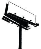 vecteur blanc de panneau-réclame photographie stock libre de droits