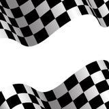 Vecteur blanc de sport de course de conception d'espace vide de drapeau à carreaux illustration libre de droits