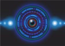 Vecteur bleu abstrait de fond Image stock