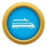 Vecteur bleu d'icône de voiture d'ambulance d'isolement illustration de vecteur