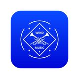 Vecteur bleu d'icône musicale de trompette illustration de vecteur