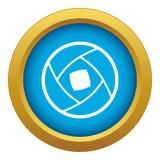 vecteur bleu d'icône Semi-fermée de lentille d'isolement illustration stock
