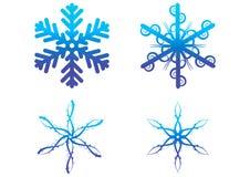 vecteur bleu de flocons de neige Photographie stock