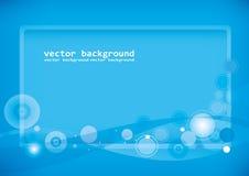 Vecteur bleu de fond Image stock