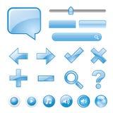 Vecteur bleu vide de symbole d'icône de bouton de site Web Photographie stock