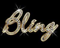 Vecteur bling d'or de Bling Photo stock