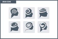 Vecteur Brain Icon Set Images libres de droits