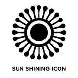 Vecteur brillant d'icône de Sun d'isolement sur le fond blanc, conce de logo illustration de vecteur