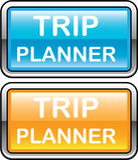 Vecteur brillant de bouton de planificateur de voyage Photographie stock libre de droits