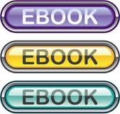 Vecteur brillant de sembler de téléchargement de bouton d'Ebook Photo libre de droits