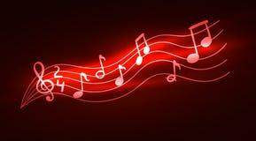 Vecteur brillant les notes musicales, lumières abstraites, illustration de musique illustration de vecteur