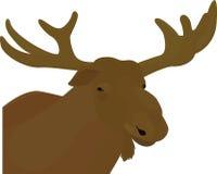 Vecteur brun principal de couleur d'élans Image libre de droits