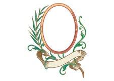 Vecteur - cadres baroques et éléments décoratifs - bannière de cru avec le ruban illustration stock