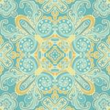 Vecteur carrelé abstrait sans couture bleu mignon de modèle Photo libre de droits