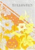 Vecteur. Carte postale de grunge de Veille de la toussaint Images stock