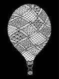 Vecteur chaud de ballon à air Zentangle et ballon à air chaud de griffonnage Photo libre de droits