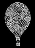 Vecteur chaud de ballon à air Zentangle et ballon à air chaud de griffonnage Photos libres de droits