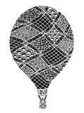 Vecteur chaud de ballon à air Zentangle et ballon à air chaud de griffonnage Photographie stock libre de droits