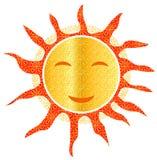 Vecteur chaud de sourire d'été de smiley à jour de Sun illustration libre de droits