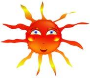 Vecteur chaud de sourire d'été de smiley de Sun Photos stock