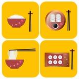 Vecteur chinois de nourriture Photo libre de droits