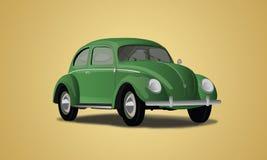 Vecteur classique de voiture de VW de Volkswagen Images libres de droits