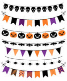 Vecteur Colletion des bannières, des étamines et des guirlandes de Halloween illustration stock