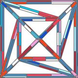 Vecteur coloré abstrait de structure de construction Images stock