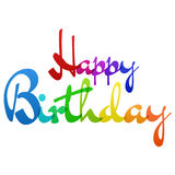 Vecteur coloré d'arc-en-ciel de joyeux anniversaire Photos libres de droits