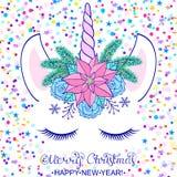 vecteur coloré d'illustration de Noël de carte Photographie stock