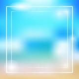Vecteur coloré de cadre de thème d'été Image stock
