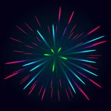 Vecteur coloré de feu d'artifice illustration de vecteur