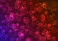 vecteur coloré de fond Effet Bokeh Image libre de droits