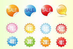 Vecteur coloré de label de vente Photo stock