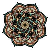 Vecteur coloré de mandala d'isolement dessus illustration stock
