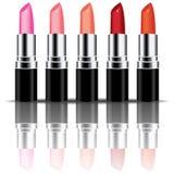 Vecteur coloré de rouge à lèvres Photographie stock libre de droits