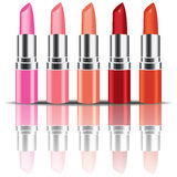 Vecteur coloré de rouge à lèvres Photos libres de droits