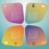 Vecteur coloré moderne de calibre d'options d'infographics avec b bleu Photographie stock libre de droits