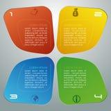Vecteur coloré moderne de calibre d'options d'infographics avec b gris Photographie stock