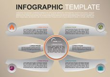 Vecteur coloré moderne de calibre d'options d'infographics avec des ailes Images stock