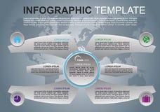Vecteur coloré moderne de calibre d'options d'infographics avec des ailes Image libre de droits